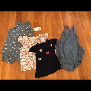 Carter's baby girl bundle NWT size 12 months